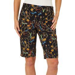 Counterparts Womens Chain Print Skimmer Bermuda Shorts