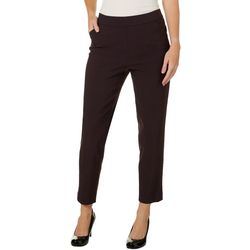 Counterparts Womens Geometric Diamond Pull On Ankle Pants
