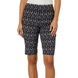Counterparts Womens Floral Vine Pull On Bermuda Shorts