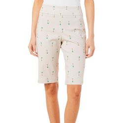 Counterparts Womens Palm Tree Pull On Skimmer Shorts