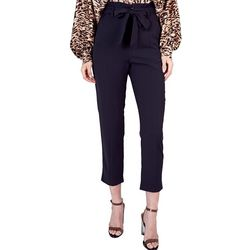 Do + Be Womens Solid Belted Slim Leg Pants