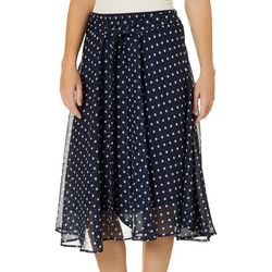 Flint & Moss Womens Pull On Polka Dot Skirt
