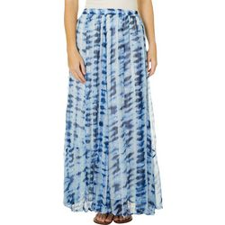 Flint & Moss Womens Pull On Tie Dye Maxi Skirt