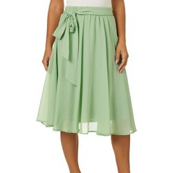 Flint & Moss Womens Georgette Solid Sheer Skirt