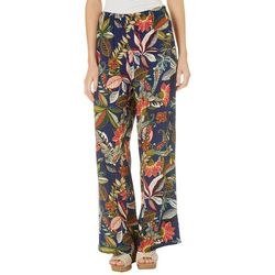 Spense Womens Whimsical Floral Pull On Pants