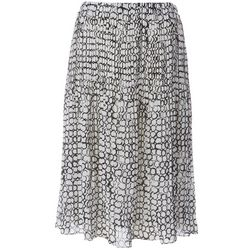 Spense Womens Circle Print Pleated Skirt