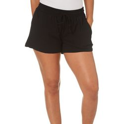 Green Dragon Womens Solid Pull On Gauze Shorts