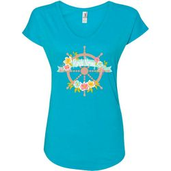 Florida Strong Womens Ship's Wheel T-Shirt