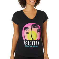 Florida Strong Womens Bend But Dont Break V-Neck T-Shirt
