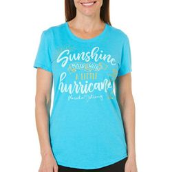 Florida Strong Womens Sunshine Mixed With Hurricane T-Shirt