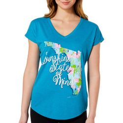 Florida Strong Womens Sunshine State Of Mind V-Neck T-Shirt