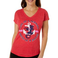 Florida Strong Womens Soul Of A Mermaid V-Neck T-Shirt