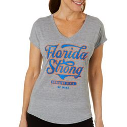 Florida Strong Womens Team Colors Logo Graphic T-Shirt
