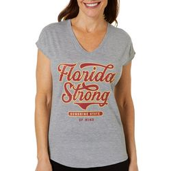 Florida Strong Womens Garnet & Grey Logo Graphic T-Shirt