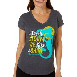 Florida Strong Womens Rise & Shine V-Neck T-Shirt