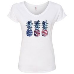 T Shirt International Womens American Flag Pineapple T-Shirt