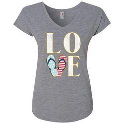 T Shirt International Womens Flip Flop Love T-Shirt