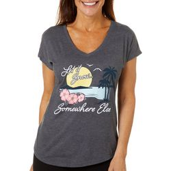 Florida Strong Womens Snow Somewhere Else V-Neck T-Shirt