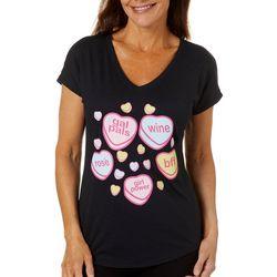 T-Shirt International Womens Candy Hearts T-Shirt