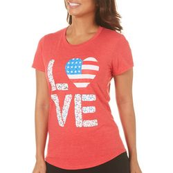 T-Shirt International Womens Americana Love T-Shirt