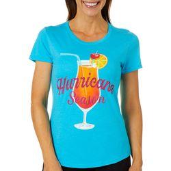 Florida Strong Womens Hurricane Season Cocktail T-Shirt