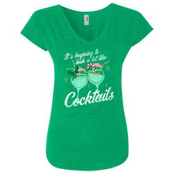 Florida Strong Womens Cocktail Screen Print Holiday T-Shirt