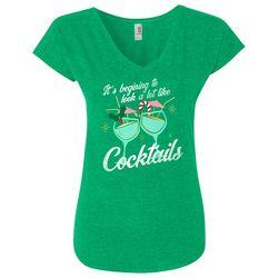 Florida Strong Womens Cocktail Screen Print Holiday T-Shirt