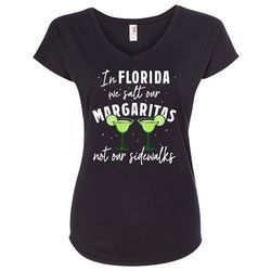 Florida Strong Womens Margarita Holiday V-Neck T-Shirt