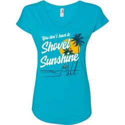 Florida Strong Womens Sunshine Holiday V-Neck T-Shirt