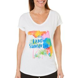 Florida Strong Womens The Land of Sunshine T-Shirt