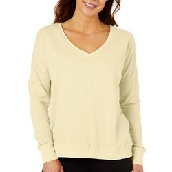 Hot Cotton Womens Solid Pullover Sweatshirt