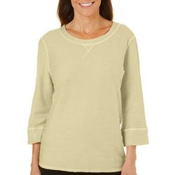 Hot Cotton Womens Solid Textured Top