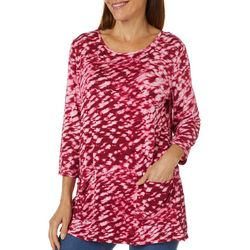 Thomas & Olivia Womens Tye Dye Jewel Embellished Tunic Top
