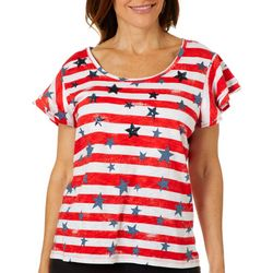Thomas & Olivia Womes Embellished Stars And Stripes Top