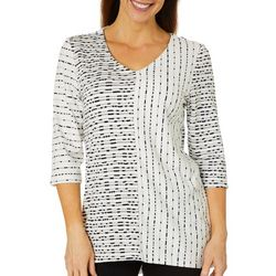 Thomas & Olivia Womens Striped Knit Tunic Top