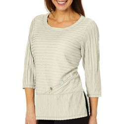 Thomas & Olivia Womens Textured Button Detail Tunic
