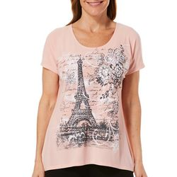 Savannah Blues Womens Paris Print High-Low Top
