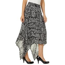Hailey Lyn Womens Aztec Print Gauze Sharkbite Skirt