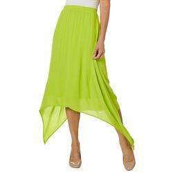 Hailey Lyn Womens Solid Gauze Sharkbite Skirt