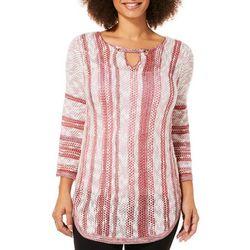 Tribekka 44 Womens Striped Keyhole Beach Sweater