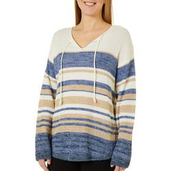 Tribekka 44 Womens Striped Tie Neck Beach Sweater