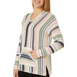Tribekka 44 Womens Striped Hooded Beach Sweater