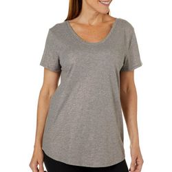 Grayson Womens Maternity Shimmer Short Sleeved Top