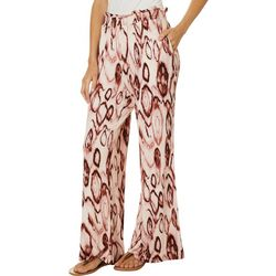 Wanderlux Womens Oval Tie Dye Print Pull On Pants