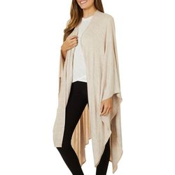 Wanderlux Womens Solid Knit Open Front Cardigan