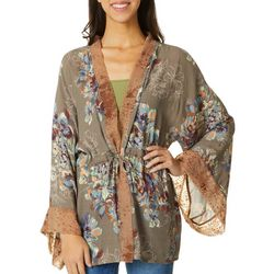 Wanderlux 3/4 Sleeve Floral Kimono