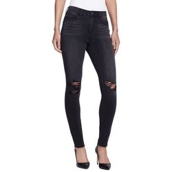 Skinny Girl Womens High Rise Destructed Skinny Jeans