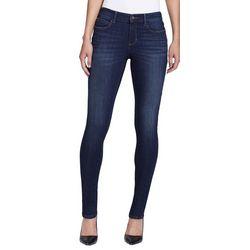 Skinny Girl Womens Mid Rise Whiskered Skinny Jeans