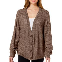 HYFVE Womens Solid Button Down Cardigan