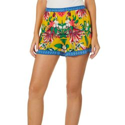 Flying Tomato Womens Tropical Palm Print Shorts